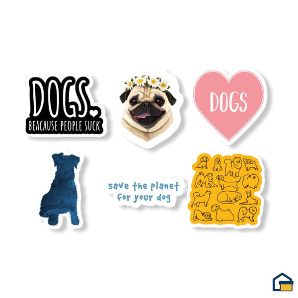 Makideas pack de Stickers de Perros
