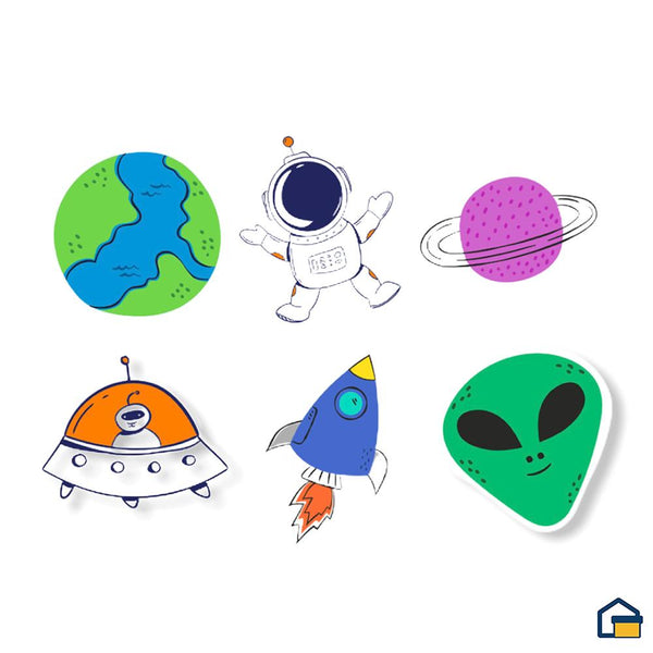 Makideas pack de Stickers de Universo II