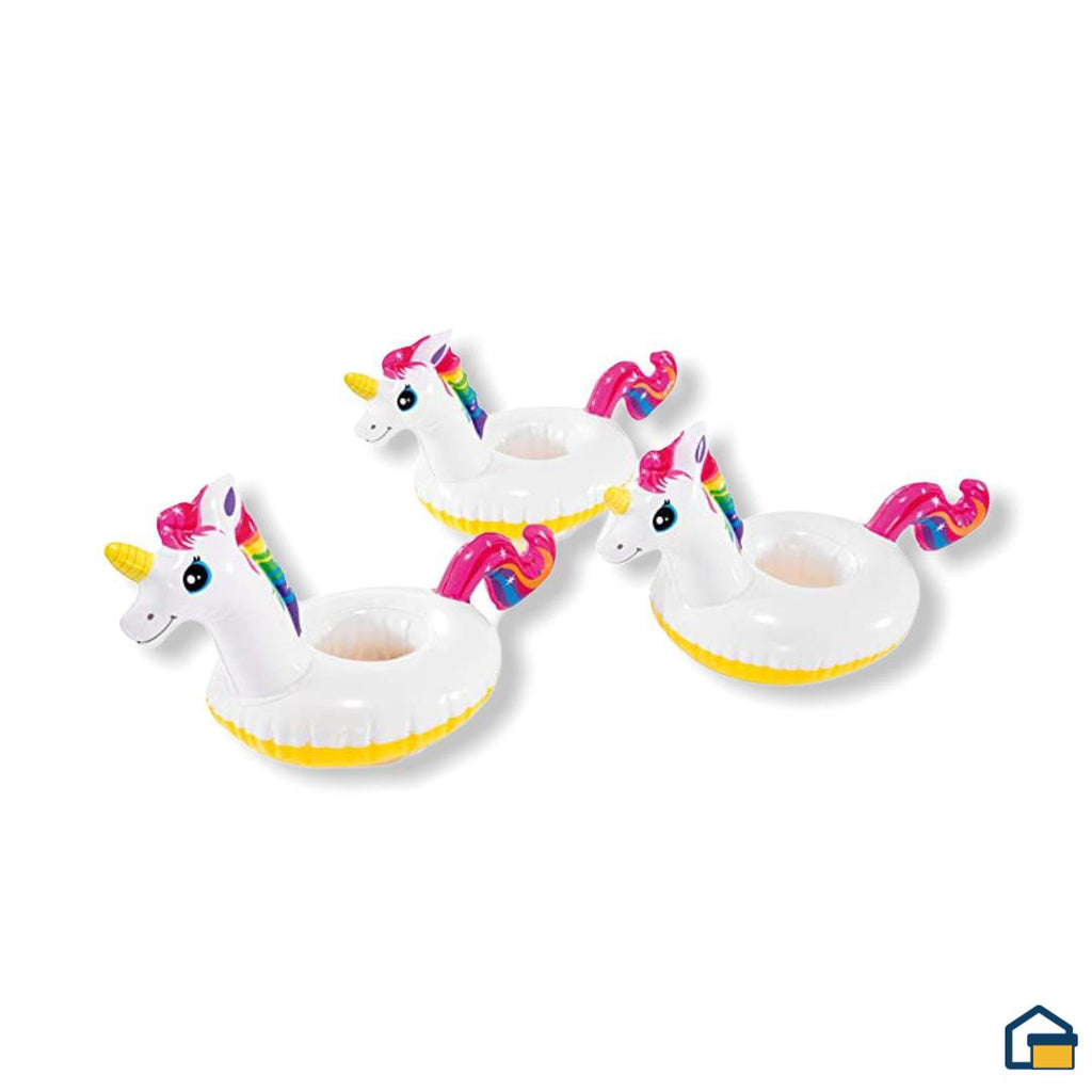 Intex Set de 3 Posavasos de Unicornio