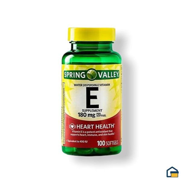 Sring Valley Vitamina E 180 mg - 100 tabletas
