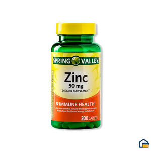 Spring Valley Zinc 50mg - 200 tabletas