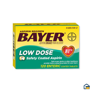 Bayer Aspirina de 81 mg - 120 Tabletas