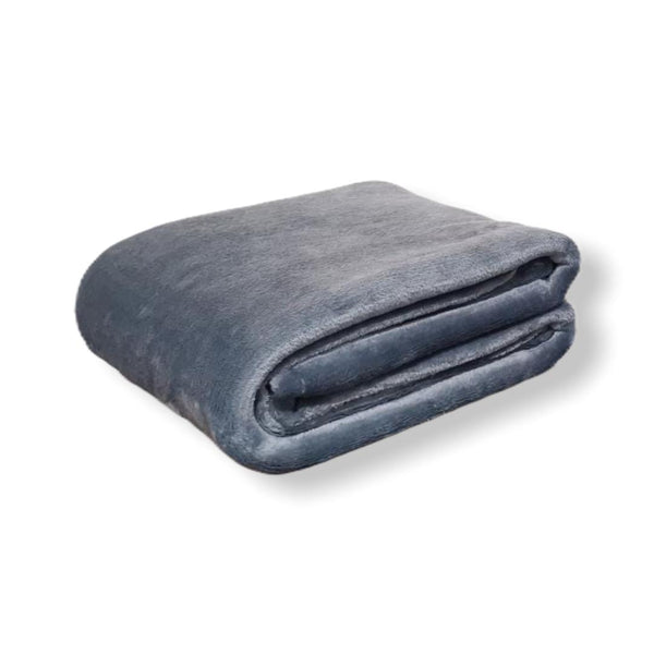 Velvet Full/Queen Blanket - Gris Claro