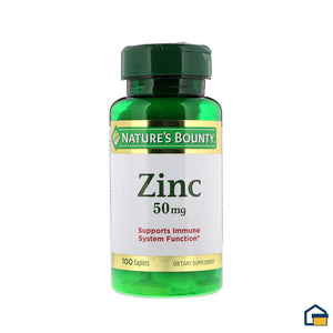 Nature´s Bounty 100 Tabletas con 50 mg de Zinc