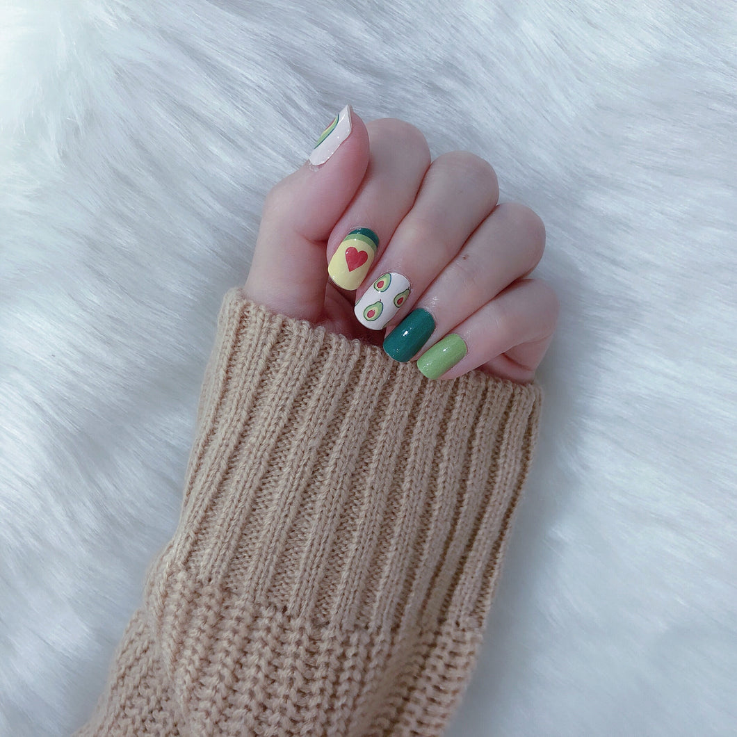 avocado nail wraps