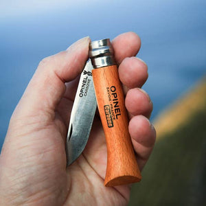 Opinel N°8 Carbon steel + Alpine Sheath Gift Bo