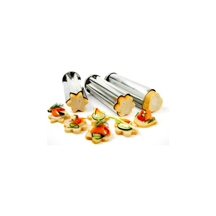 Norpro Tin Canape Mold 3 Pc Set