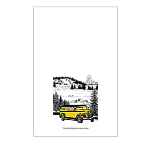 Corvidae Tea Towels: Yellowstone National Park - Zest Billings, LLC