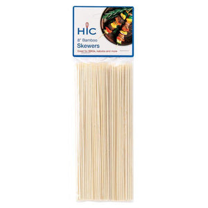 "HIC Skewer -  8"", bamboo - Zest Billings, LLC"