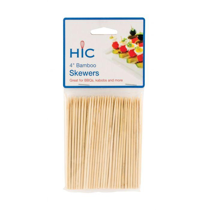 "HIC Skewer -  4"", bamboo"