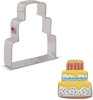 Ann Clark Cookie Cutter Wedding Cake - Zest Billings, LLC