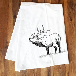 Corvidae Tea Towels Elk - Zest Billings, LLC