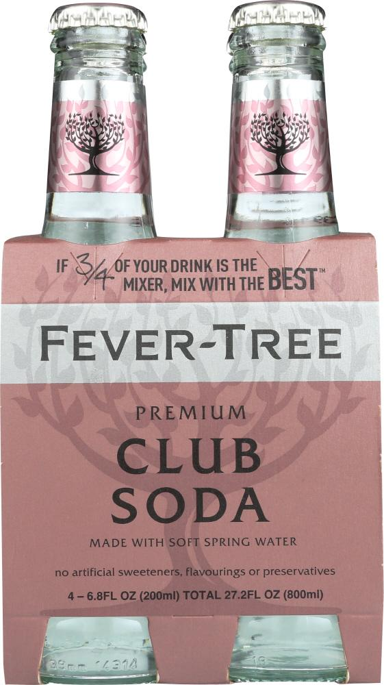 Fever-Tree Premium Club Soda, 4-Pack