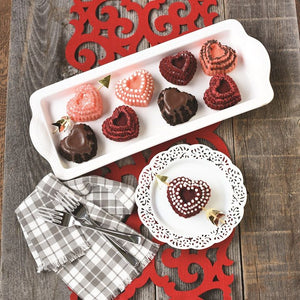 NordicWare Tiered Heart Cakelet Pan