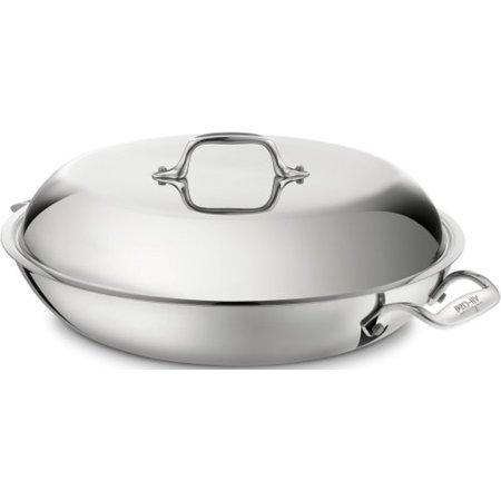All-Clad D3 Braiser Pan w/Lid - 4 QT