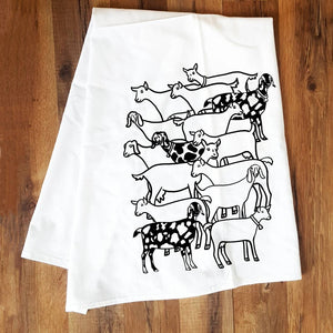 Corvidae Tea Towels Goat Herd - Zest Billings, LLC