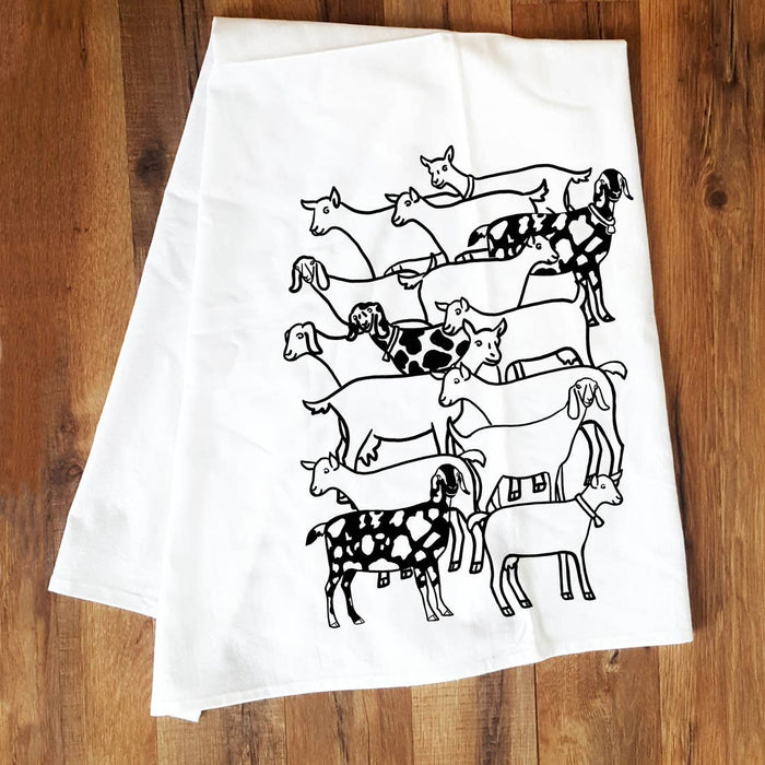 Corvidae Tea Towel: Goat Herd