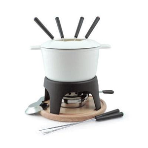 SwissMar Fondue Set - Cast iron White Sierra - Zest Billings, LLC