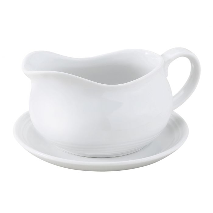 HIC Gravy Boat 24 oz with saucer