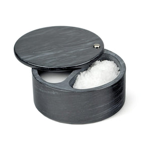 RSVP Swivel Top Marble Salt Box - Black - Zest Billings, LLC