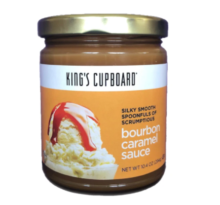 King's Cupboard Bourbon Caramel Sauce, 10oz