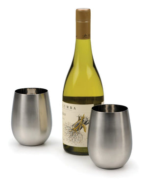 RSVP Stainless Steel Wine Glasses - Zest Billings, LLC