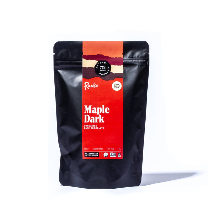 Raaka Chocolate - 75% Maple Dark Baking Chocolate, 8oz.