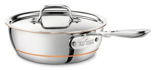 All-Clad Copper Core Saucier w/Lid: 2 QT - Zest Billings, LLC