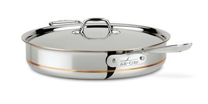 All-Clad Copper Core Saute Pan w/Lid: 6 QT