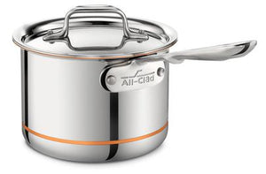 All-Clad Copper Core Sauce Pan w/Lid: 2 QT - Zest Billings, LLC
