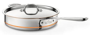 All-Clad Copper Core Saute Pan w/Lid: 3 QT - Zest Billings, LLC