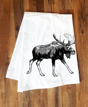 Corvidae Tea Towels Moose - Zest Billings, LLC