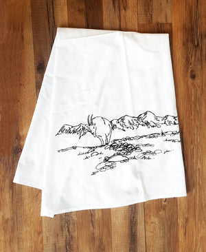 Corvidae Tea Towels Mountain Goat - Zest Billings, LLC