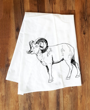 Corvidae Tea Towels Big Horn - Zest Billings, LLC