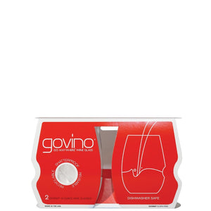 GoVino TopShelf Stemless Glasses 2 Pack: Red Wine (16 oz.) - Zest Billings, LLC