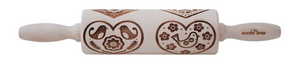"Pottery Avenue 4.5"" Embossing Rolling Pin Heart Gram"