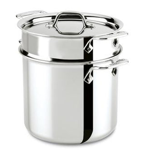 All-Clad D3 Pasta Pentola w/Insert and Lid - 7 QT. - Zest Billings, LLC