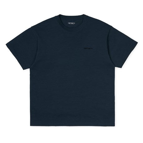 Carhartt S/S SCRIPT EMBROIDERY T-SHIRT I025778 Admiral