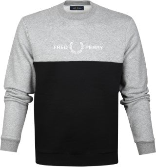 Fred perry BLOCK GRAPHIC M7519 Grey Chine
