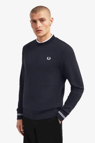 Fred perry CREW NECK SWEATSHIRT M7535 Navy blazer