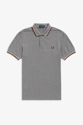 Fred perry TWIN TIPPED M3600 961 Grey marl
