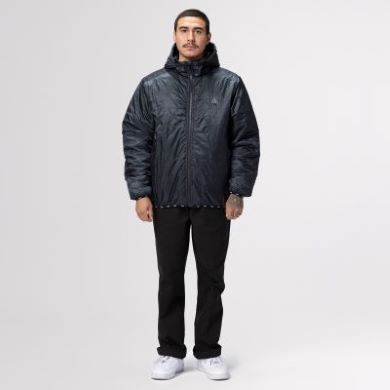 HUF POLYGON QUILTED JACKET JK00244 BLACK