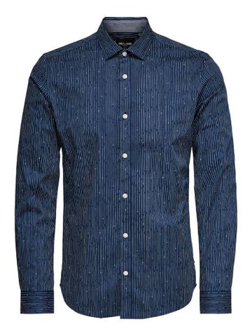 Only&Sons ONSALFREDO LS AOP CUTAWAY SHIRT 22013835 Dress Blues