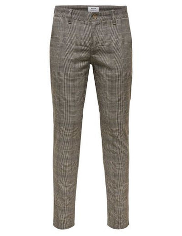 Only&Sons onsMARK CHECK PANT GW 4198 22014198 Medium Grey Melange