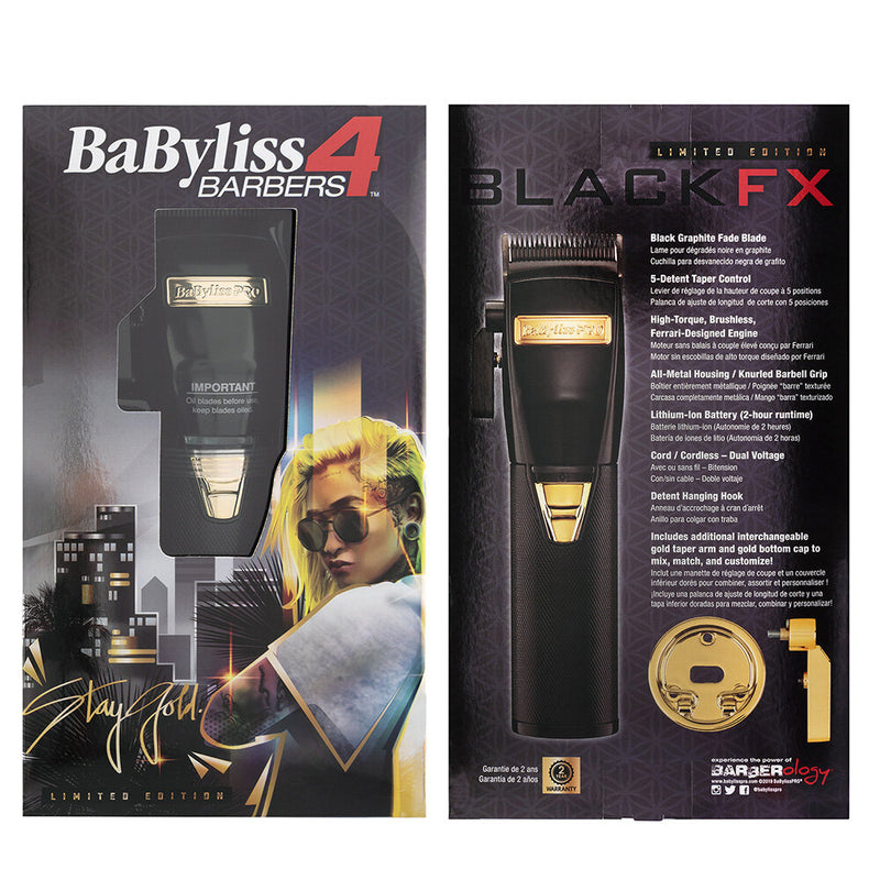 BaByliss PRO Black FX Lithium Hair Clipper - B870BA Package