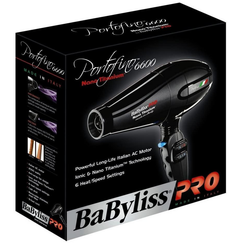 BaByliss PRO Portofino Hair Dryer 2200W Package