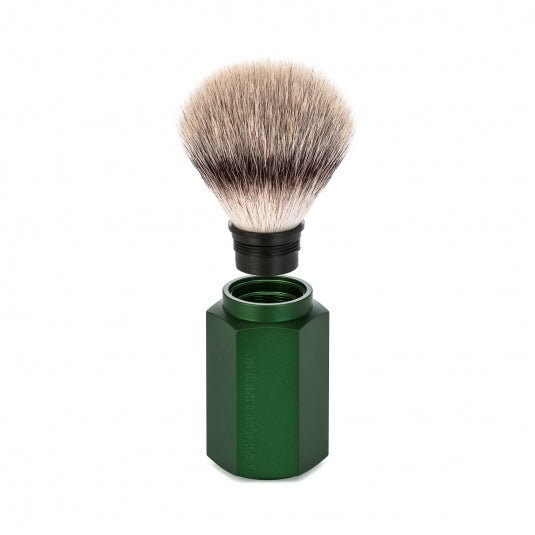 Muhle Hexagon Safety Razor & Synthetic Silvertip Shaving Set Forest
