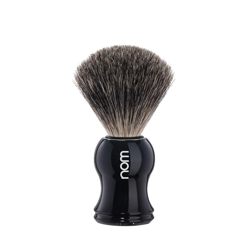 Muhle NOM Gustav, Black Pure Badger Shaving Brush