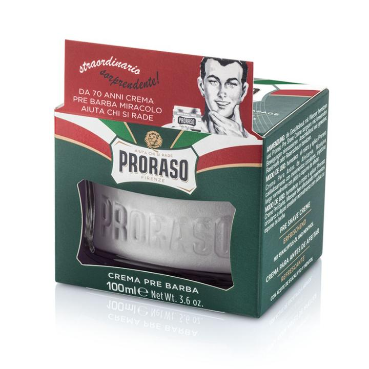 Proraso Pre-Shave Cream Refresh Eucalyptus & Menthol 100ml (green)