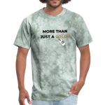 "Load image into Gallery viewer, theblackjunction ""More Than"" Inverse (Tee) - military green tie dye"